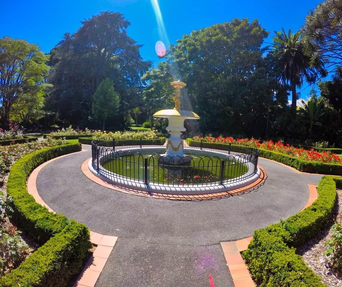 Queens-Gardens-Nelson-New-Zealand-Brunnen