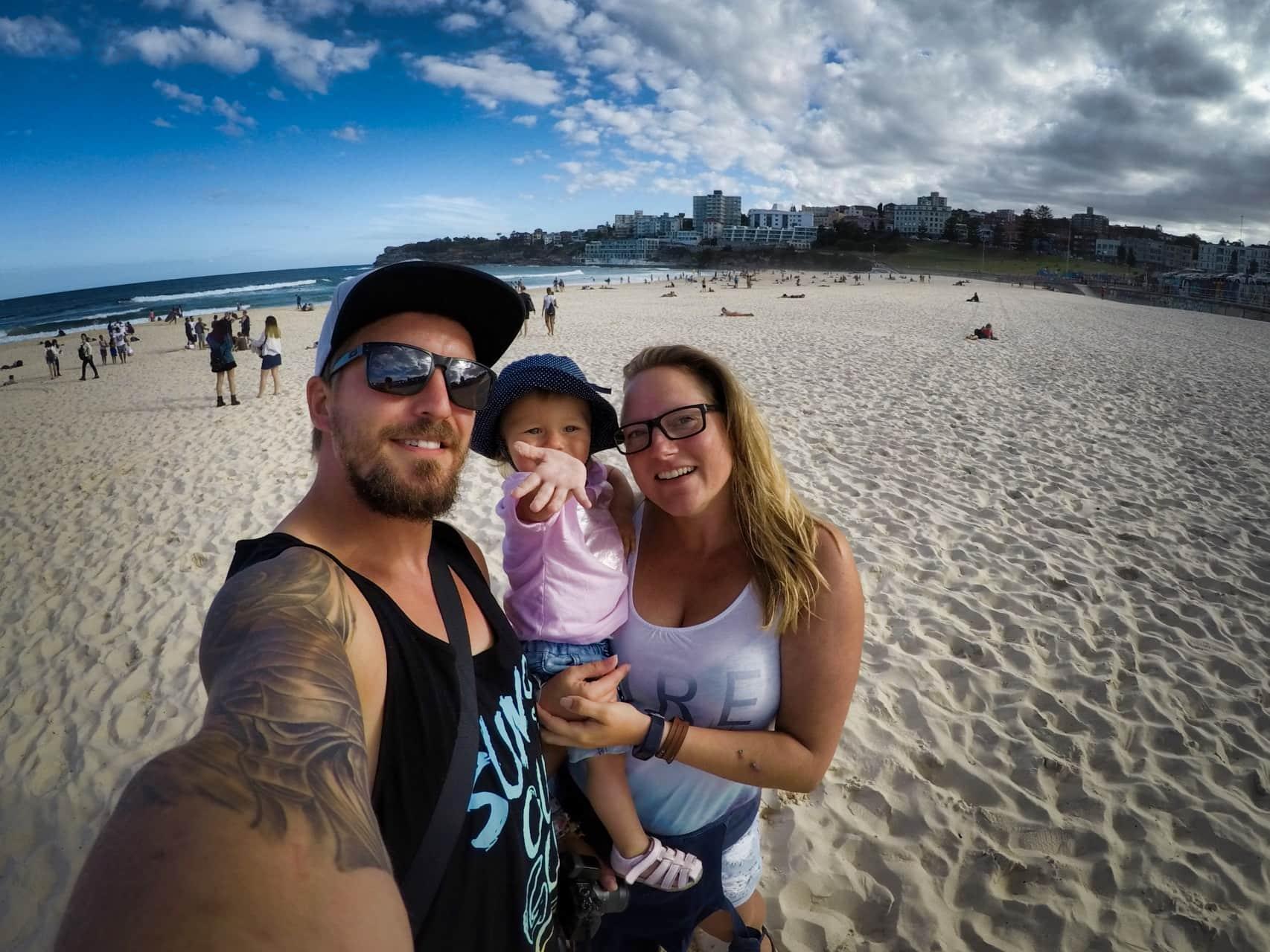 Selfie Bondi Beach Sydney Australia 2018 gorpro hero5