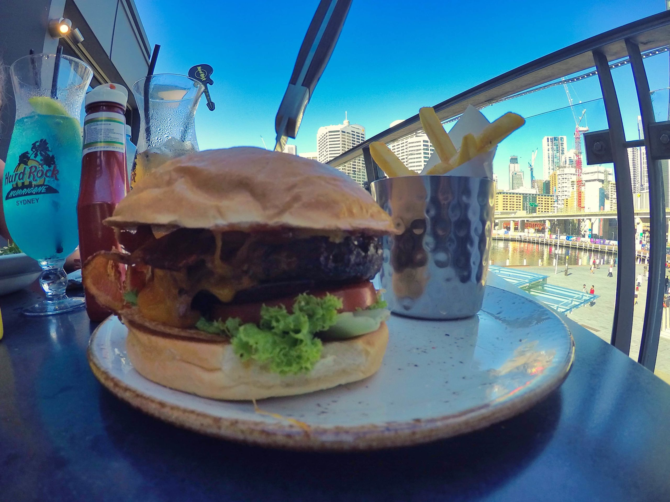 burger hard rock cafe sydney