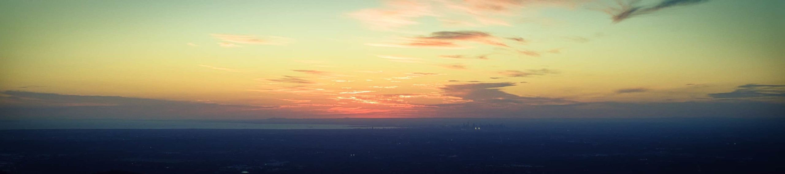 panorama olinda mit skyline melbourne sunset