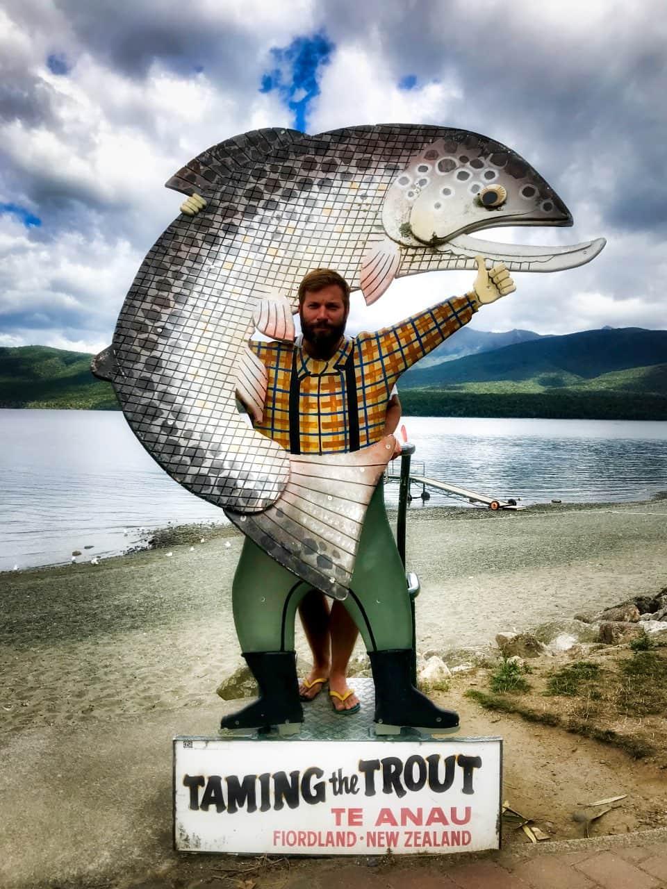 Te-Anau-taming-the-trout-funny-Kasi